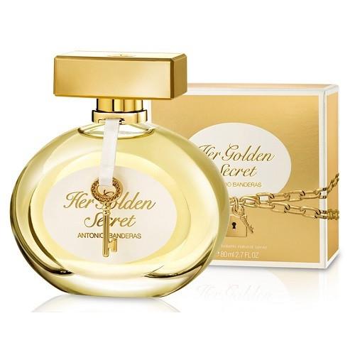 Antonio Banderas Her Golden Secret Eau De Toilette Hölgyeknek 80 ml