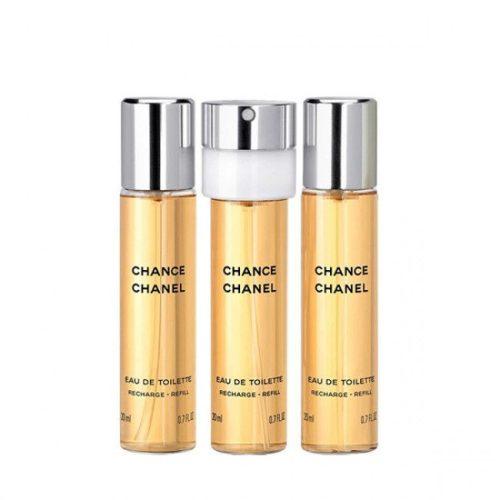 Chanel Chance EDT 3×20 ml utántöltő Hölgyeknek