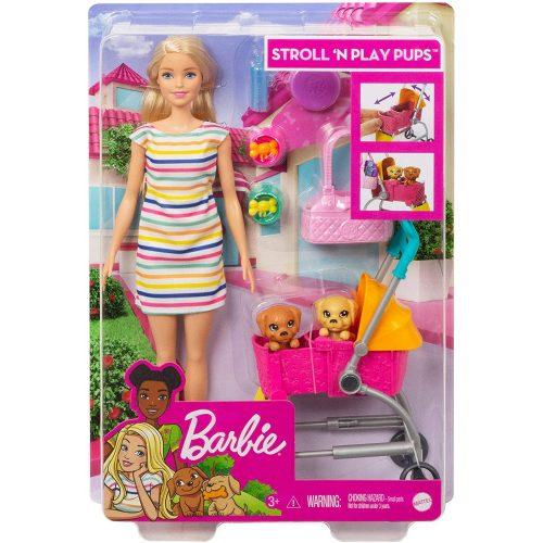 Barbie: Kölyök kutyus sétáltató játékszett (GHV92)