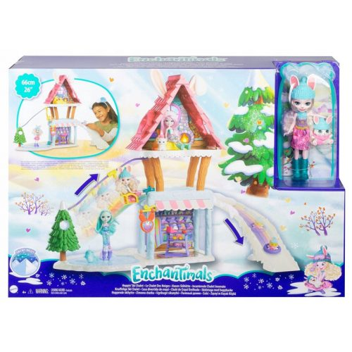 Enchantimals: Téli üdülőközpont Bevy Bunny babával (GJX50)
