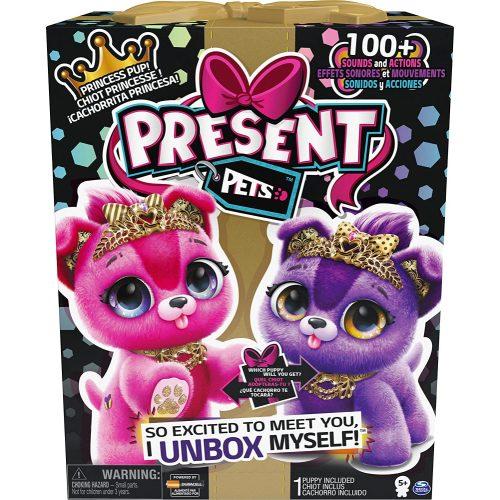 Spin Master Present Pets: Interaktív kutyus – csillogó hercegnő